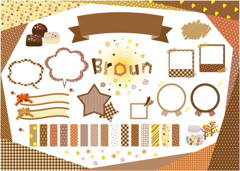 brown material pattern