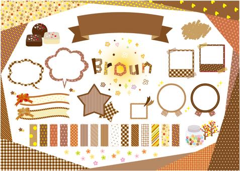 brown material