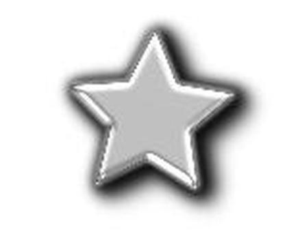 Star made of glass SILVER