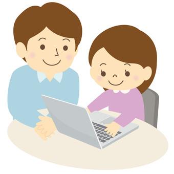 パソコンを学ぶ子供-04