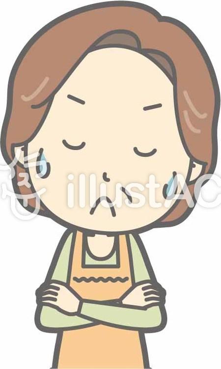 中年主婦a-うーん-バストのイラスト