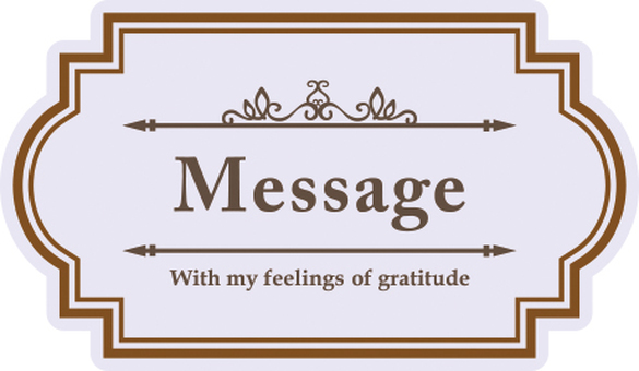 Message plate rectangular purple