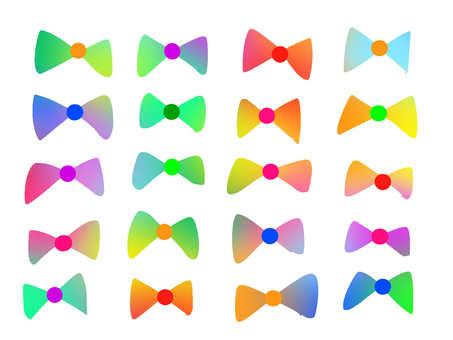 Watercolor style rainbow 【Ribbon】