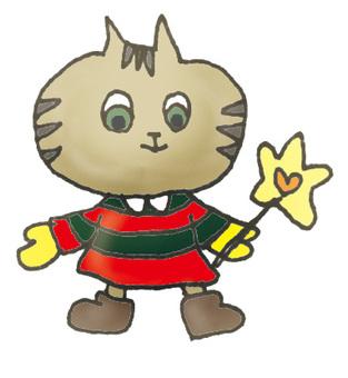 Magical stick cat