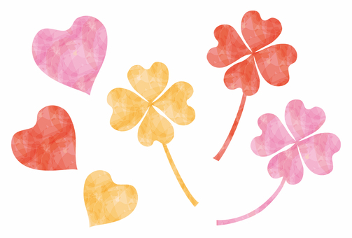 Valentine / pink four leaves