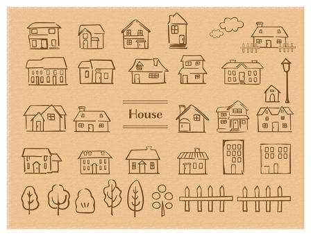 Hand-painted style house tea line