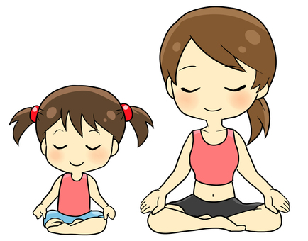Parent and child yoga