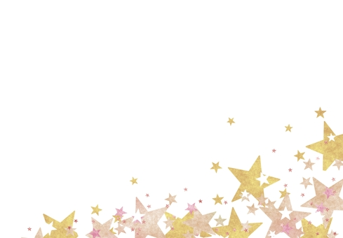 Glitter yellow base star space space wallpaper frame