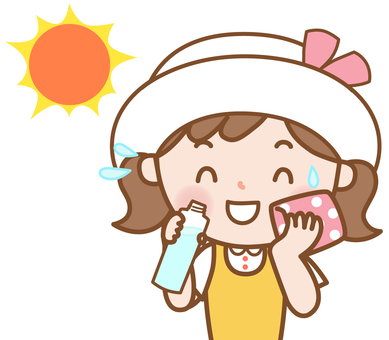 여자 : 여름의 수분