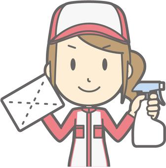 Mechanic woman - cloth width - bust