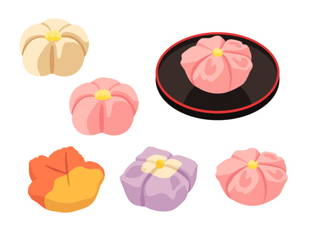 Dishes _ Japanese confectionery _ chopped _ no line