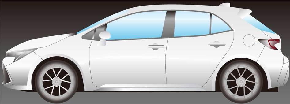 Compact car white