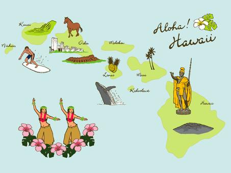Illustration map (Hawaii)