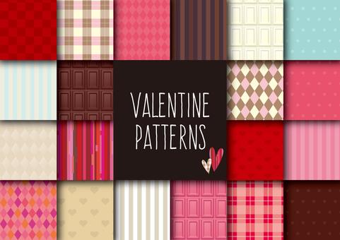 발렌타인 이미지 패턴 세트