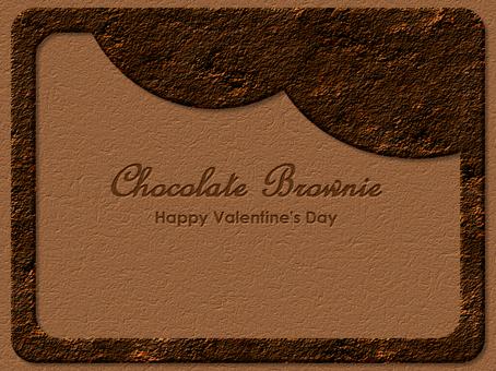 巧克力布朗尼框架真正的豪華
