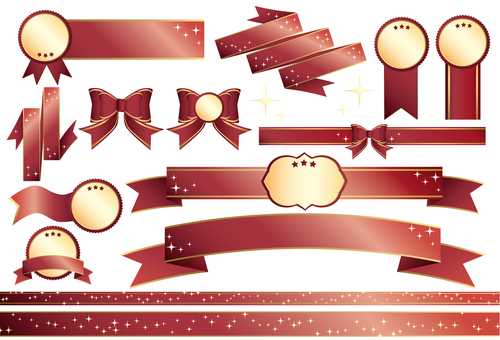Ribbon Vector _ Red