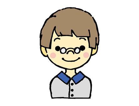 안경 소년