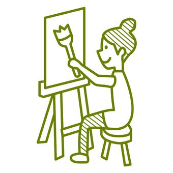 Sketch girls green