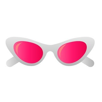 Red lens sunglasses