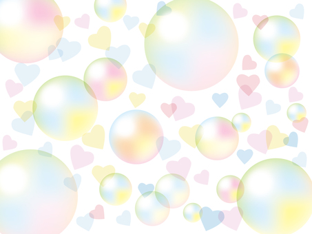 Soap bubble and heart