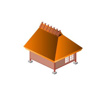 草屋頂的房子
