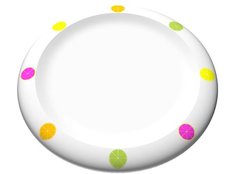 Plate (citrus pattern)