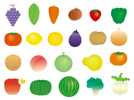 Round vegetables & fruits