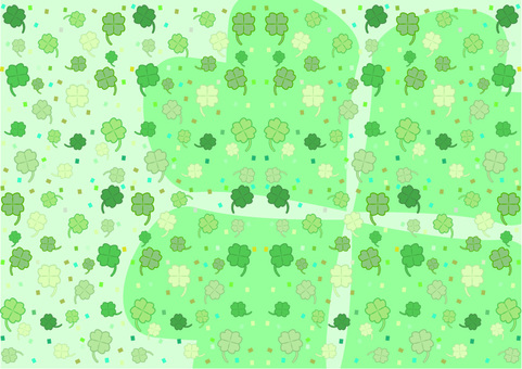 Four-leaf clover full of bright background
