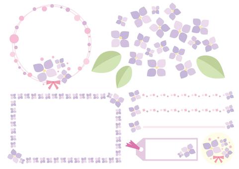 Hydrangea material set