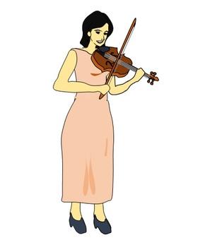바이올린을 연주 여성 2