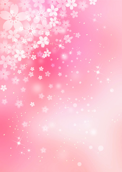 Cherry tree _ pale pink background _ vertical 1740