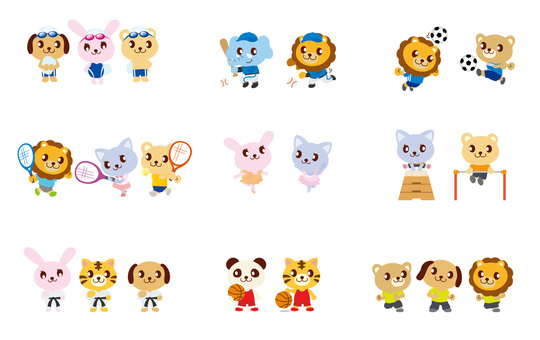 Animal character (sports) set
