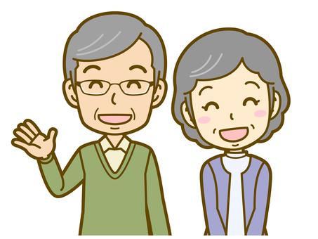 已婚夫婦(老年人):B_greeting 01BS