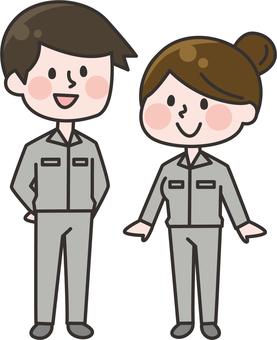 Operators male and female body