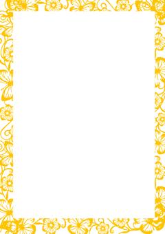 Wallpaper frame Orange