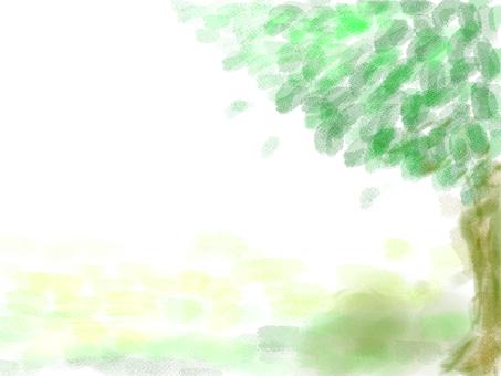 新鮮的綠色