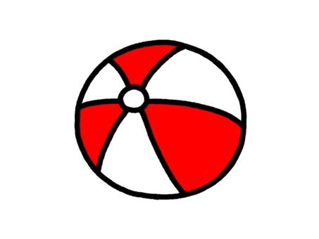 Beach ball red