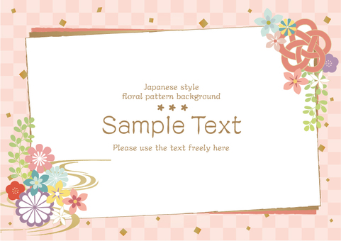 Japanese pattern frame background