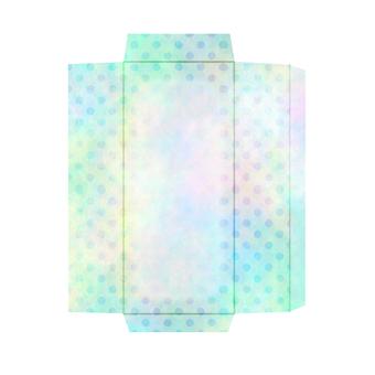 One-stroke writing paper envelope polka dot