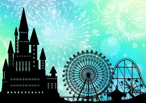 Castle and amusement park