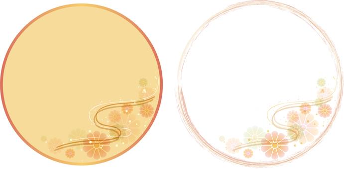 菊水背景圓形橫幅