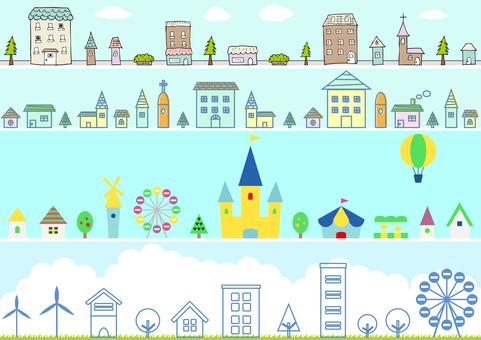 Various city landscape sets