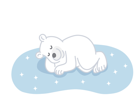 Polar bears in a nap