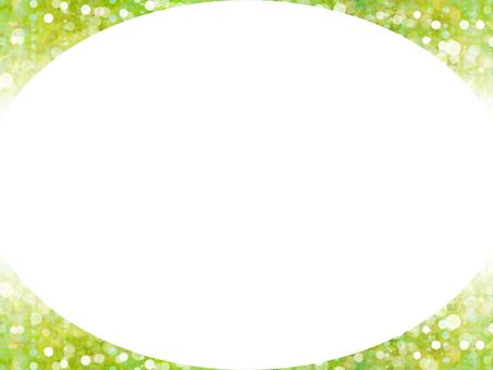 Round frame (green)
