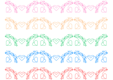 Bow and Heart frame material