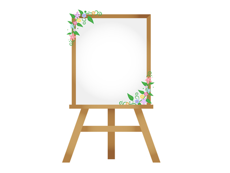 Easel Flower 2 (White Board)