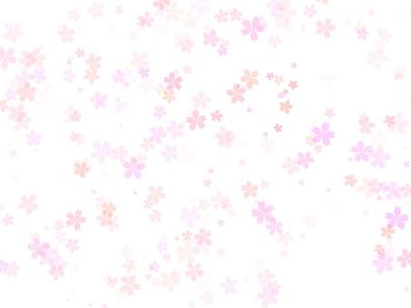 桜水彩背景3 透明