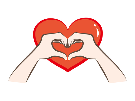 Heart type hand sign a