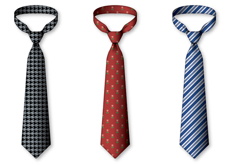 Variety of patterned neckties