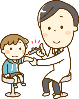 予防接種_男の子